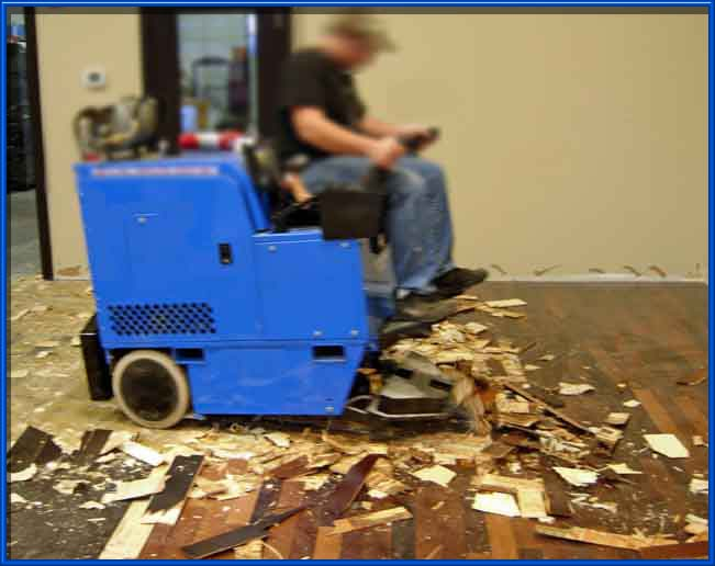 Removal of Wood Flooring - Lundeen Simonson Coatings